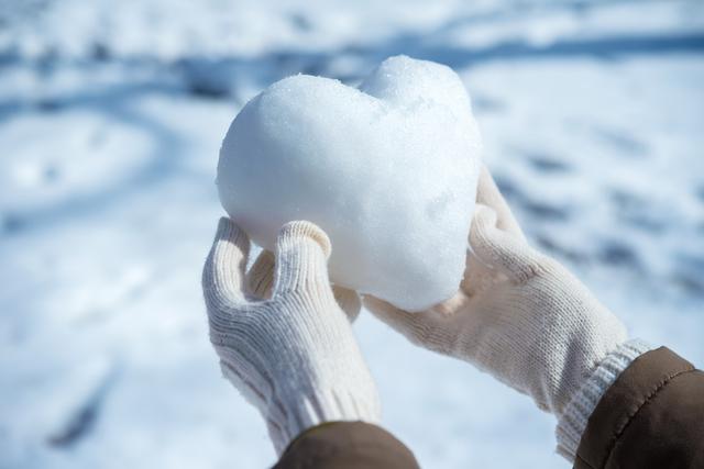 ハート型の雪